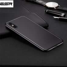 ESR Original Phone Case for iphone X Ultra Thin Cute Soft TPU Case for Apple iphone X 10 Fashion flexibility back Case(China)