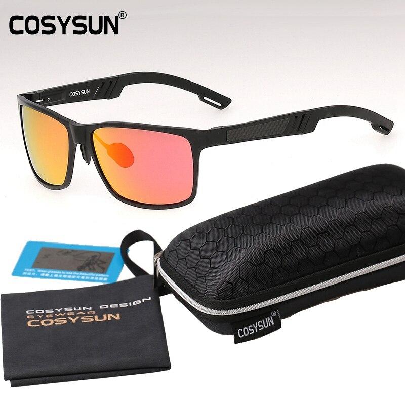 with Case HD Polarized Sunglasses Men 2016 Brand Men oculos Sports Goggle Driving Glasses Men Sunglasses Mirror Sun Glass 6560