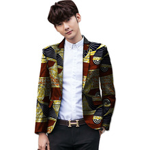 Fashion mens african blazers bright colored print custom made suit coats for wedding/party unique design dashiki clothing