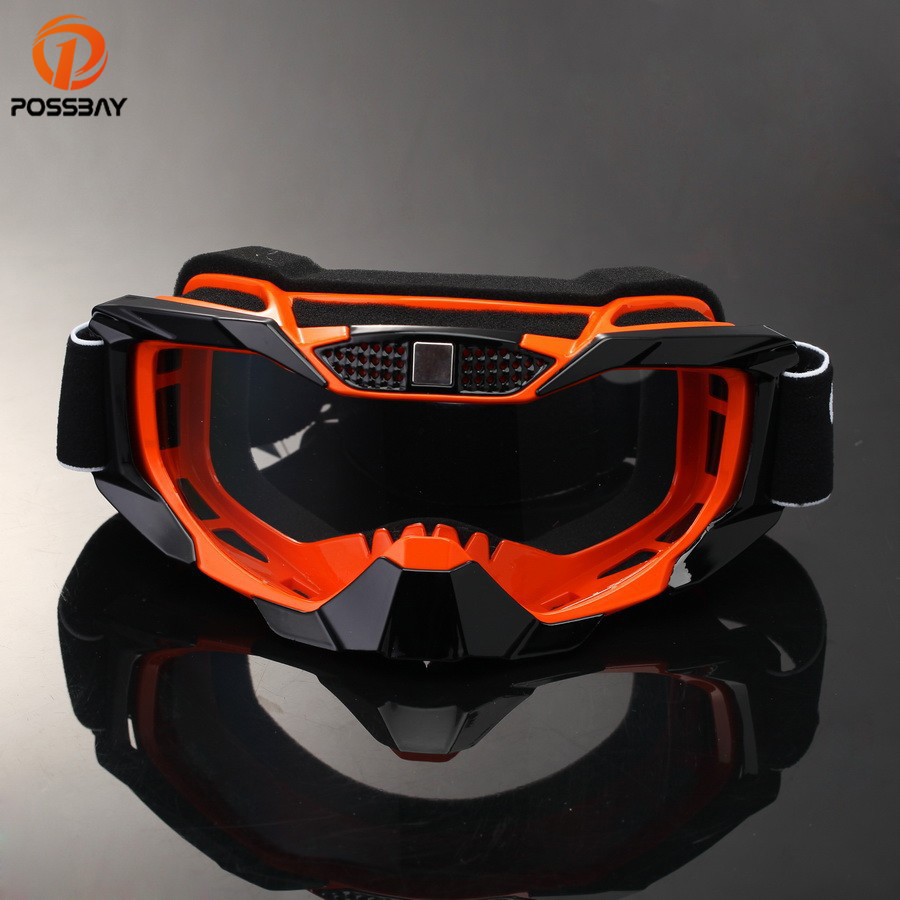 POSSBAY Motorcycle Dirt Bike Racing Goggles MX Off Road Glasses Motorbike Outdoor Sport Oculos Cycling Goggles Motocross Gafas