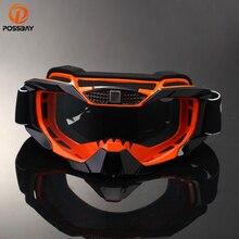POSSBAY zabrudzenia motocyklowe gogle wyścigowe MX Off Road okulary motocykl odkryty Sport óculos gogle kolarskie Motocross Gafas