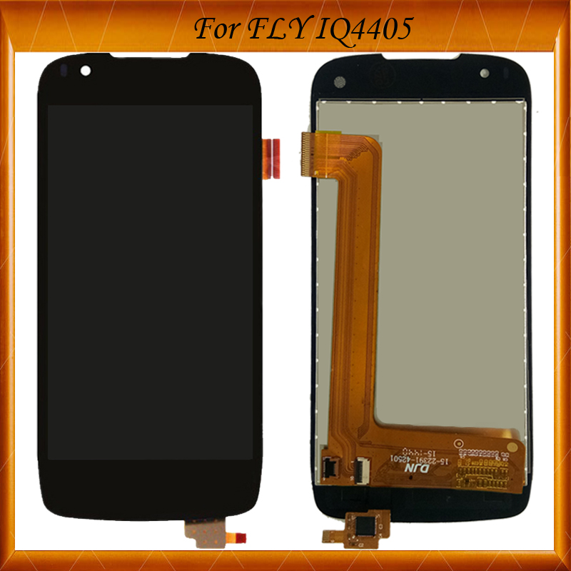 100% Tested OK 1pcs LCD For Fly IQ4405 IQ 4405 Full LCD Display Touch Screen Glass digitizer Assembly Replacement ...