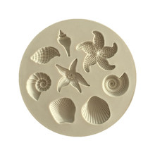 Ocean Biological Conch Sea Shells Chocolate Cake Silicone Mold DIY Chocolate Mold Kitchen Liquid Cake Tools