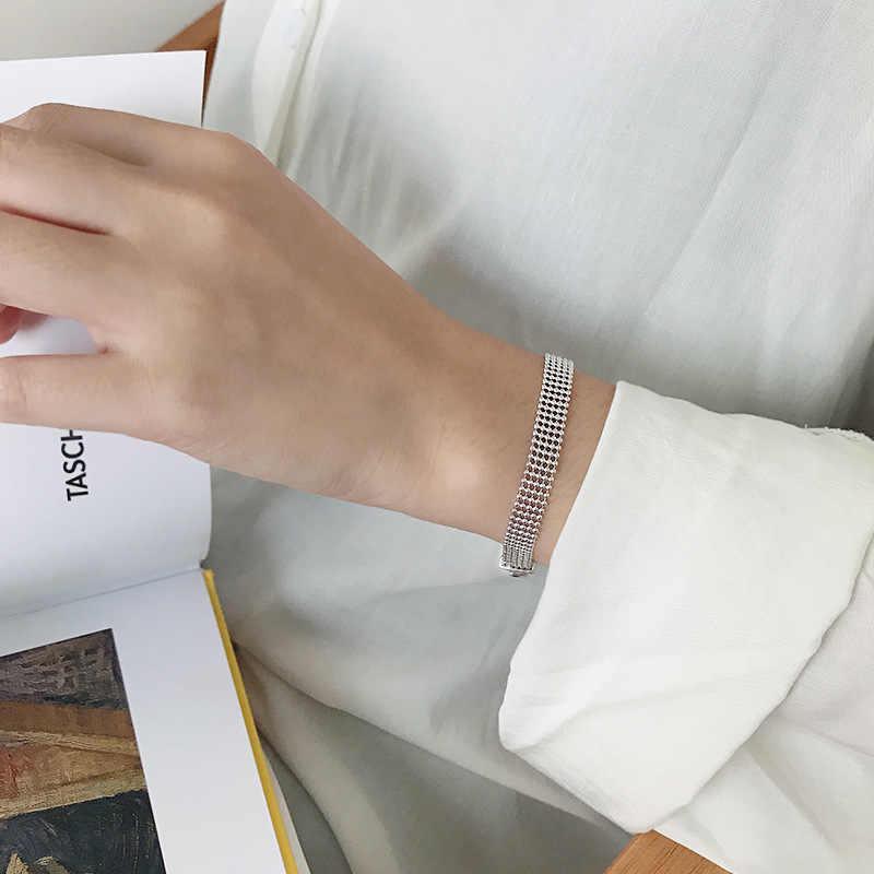 Shanice Phiên Bản Hàn Quốc S925 Bạc Ins Hình Học Đa Lớp Vòng Tay Chuỗi Hạt Vòng Tay Nữ & Lắc Tay Trang Sức