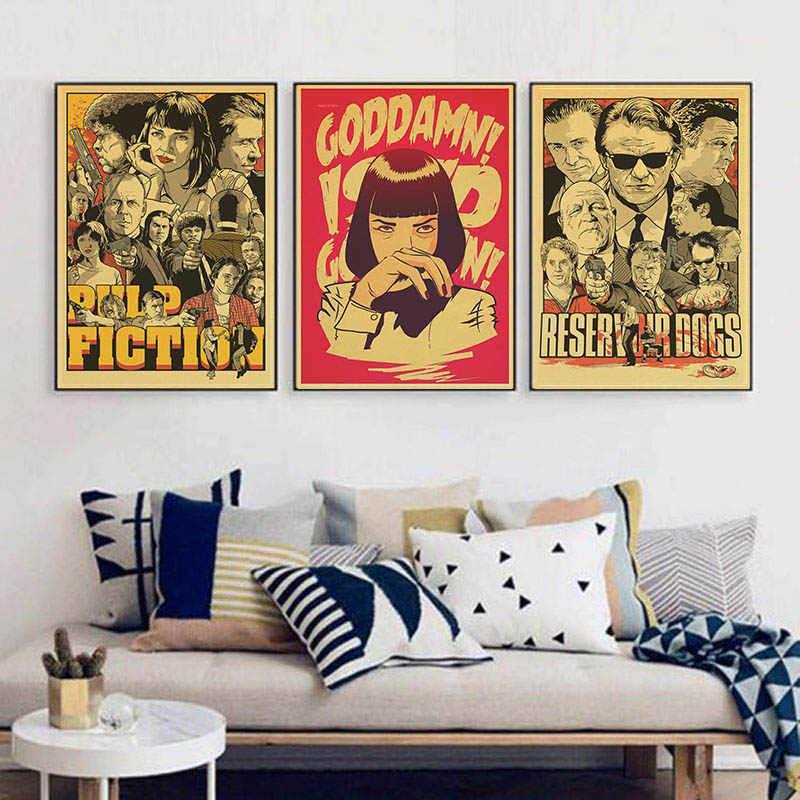 קוונטין טרנטינו ישיר אומה תורמן סרט ספרות זולה Vintage נייר פוסטר קיר ציור עיצוב הבית 42X30 CM 30X21 CM