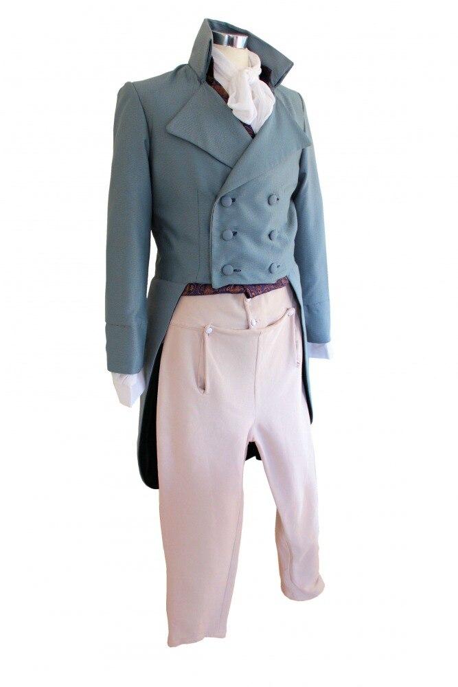 Uomo Deluxe Regency Mr. Darcy Vittoriano Costume Taglia m