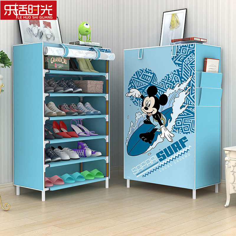 Large Capacity Dustproof Fabric Shoes Rack Hallway Shoe Organizer Home Living Room Shoe Closet Shelf Cabinet Assembled Furniture