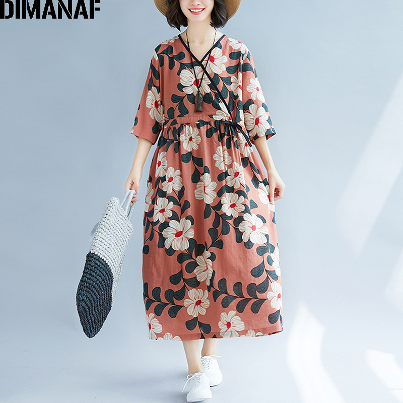 310e8d4018f03 Worldwide delivery summer dress plus size cotton in NaBaRa Online