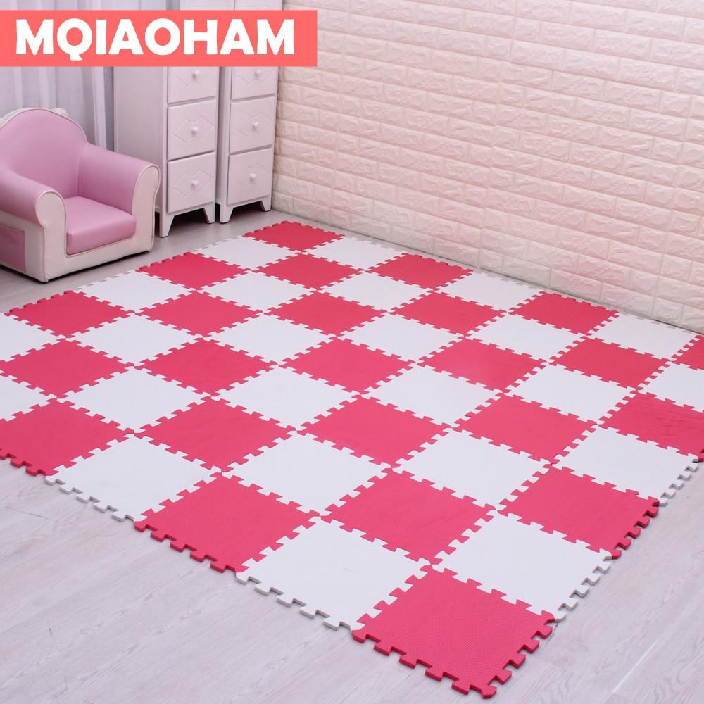 MQIAOHAM Baby EVA Foam Puzzle Play Mat /kids Rugs Toys Carpet For Childrens Interlocking Exercise Floor Tiles,Each:30cmX30cm