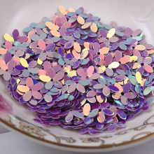 Fashion 500pcs 10mm six petals flower Violet with golden sequins Jewelry Accessories cloth crafts confetti clothing