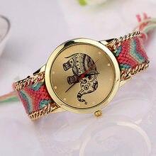 Fashion DIY Watch Lady Elephant Pattern Women Dress Watches