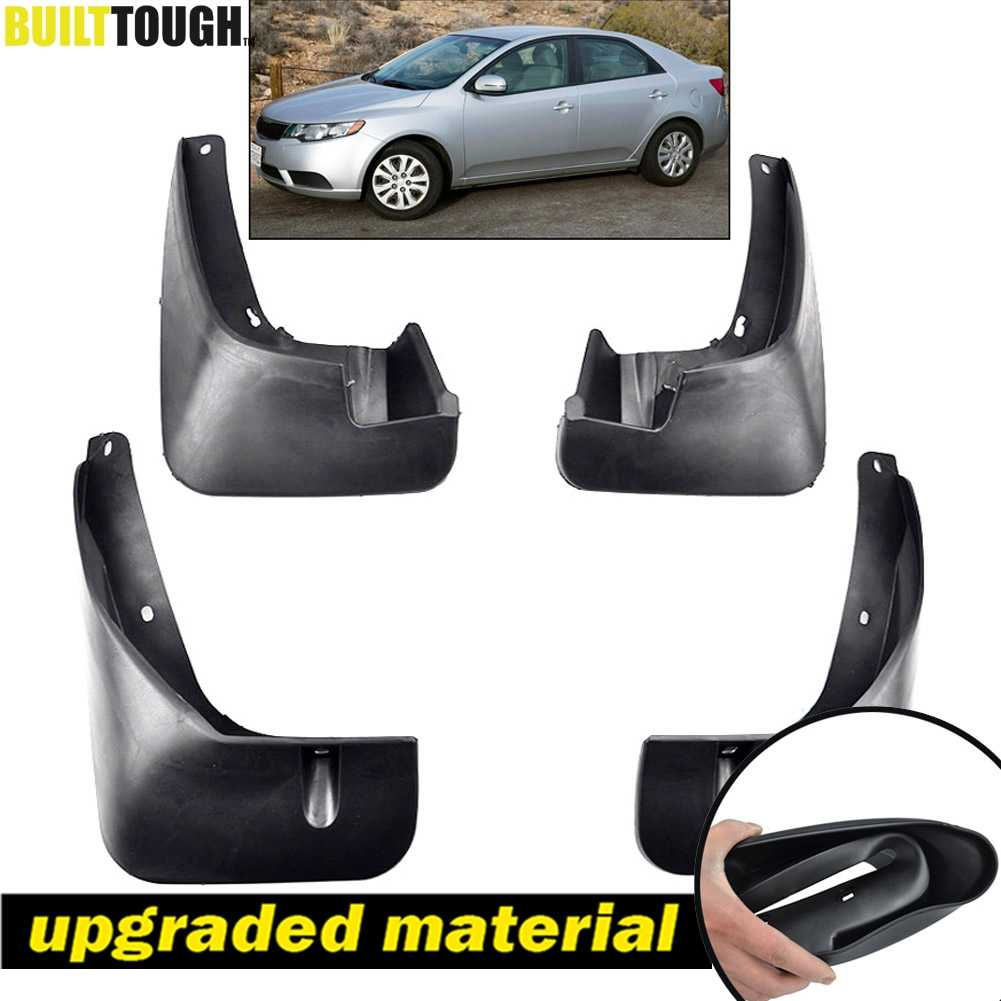 Upgraded Tire Mud Flaps Auto Splash Guards for 2009-2013 KIA Forte Front Rear Mudguards Wheel Accessories Styling /& Body Fittings 4Pcs Black