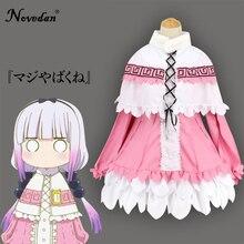 Vestido camisero de la señorita Kobayashi, uniforme para chicas, disfraz de Halloween, disfraz de Meidofuku, vestuario de Anime, traje de vestir