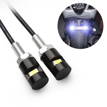2Pcs Car Motorcycle Number License Plate Lights 12V LED 5630 SMD Auto Tail Front Screw Bolt Bulbs Lamps Car Styling Light Source