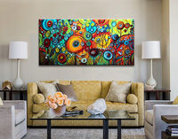 Large Modern Abstract Hand Painted Art Wall Oil Painting on Canvas (No framed