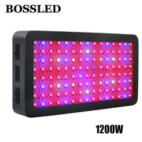 BOSSLED 1200W Black Double Chips LED Grow Light Full Spectrum 410 730nm For Indoor Plants And