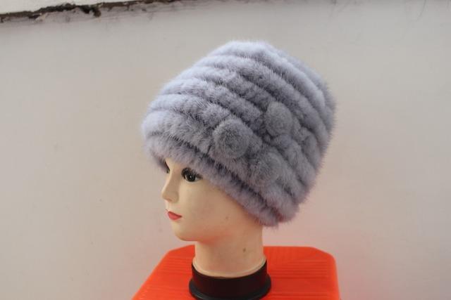 2017 primavera otoño invierno dama de la moda de piel Natural de visón sombrero