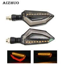 Universal Motorcycle Turn Signal Light Indicators Amber LED Lights For Honda CBR954RR NC700 NC750 S X PCX125 ST 1300 A
