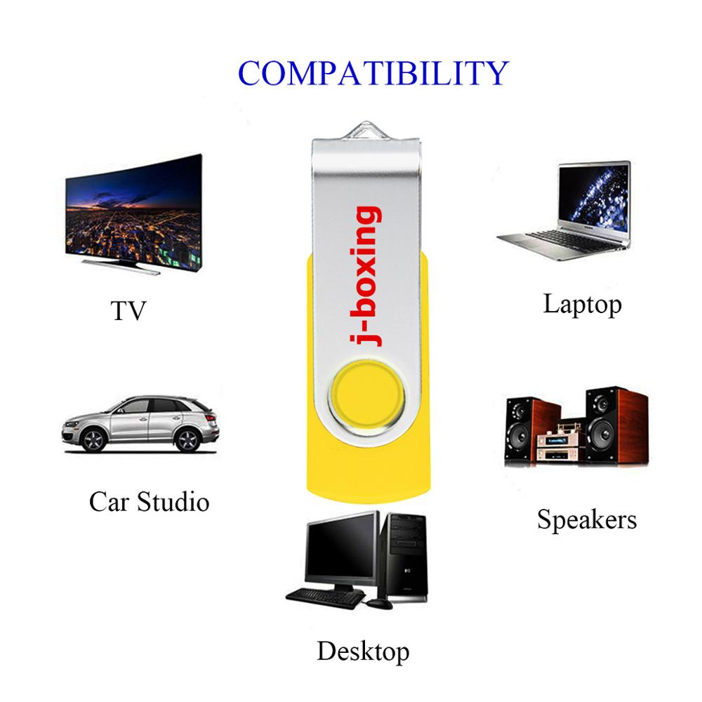 J boxing 16GB USB Flash Rotating Pendrive Swivel Flash Disk Thumb Pen Drive USB Memory Stick for PC Mac Tablet USB Device Yellow in USB Flash Drives from Computer Office
