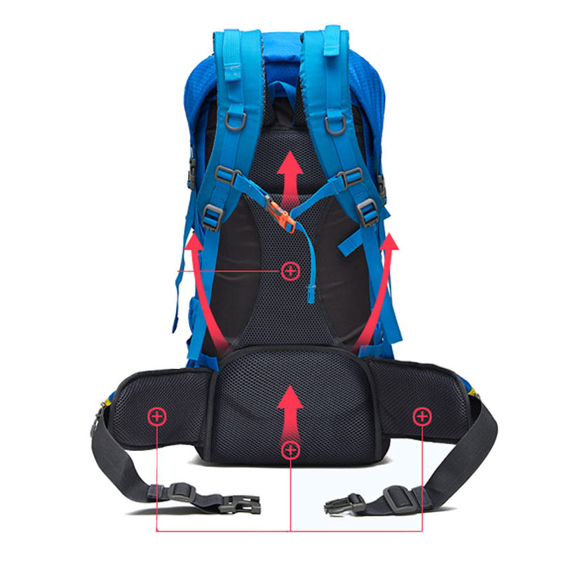 Outdoor Backpack Sports Bag Hiking Cycling Bag Climbing 50L Lightweight Waterproof Travel Backpack Big Load Knapsack Rucksack