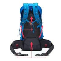 Outdoor Backpack Sports Bag Hiking Cycling Bag Climbing 50L Lightweight Waterproof Travel Backpack Big Load Knapsack Rucksack