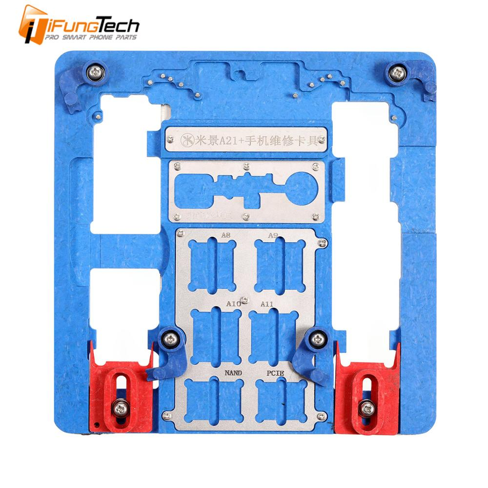 MJ A21+ Multi-functional PCB Motherboard Holder Fixture For iPhone Micro Soldering Repair Station Fixing Tool(China)