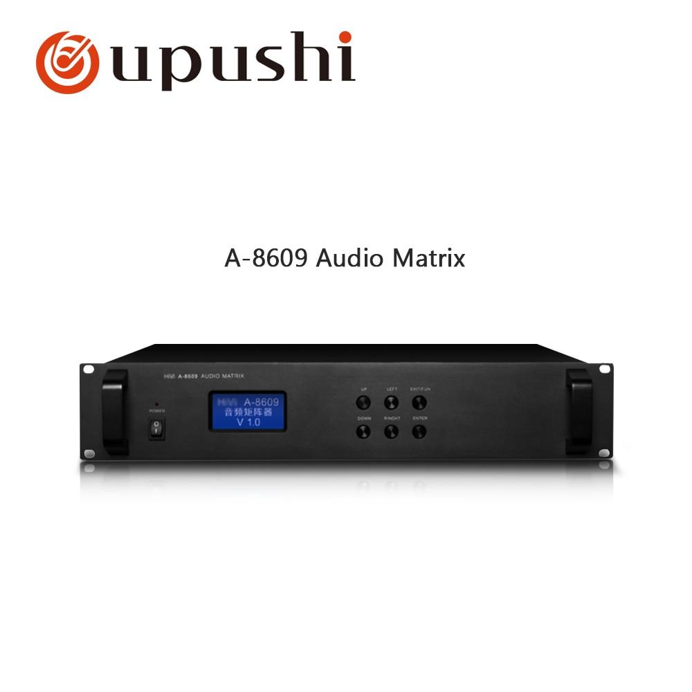 OUPUSHI A 8609 8 road audio input and 8 channel audio output audio matrix machine