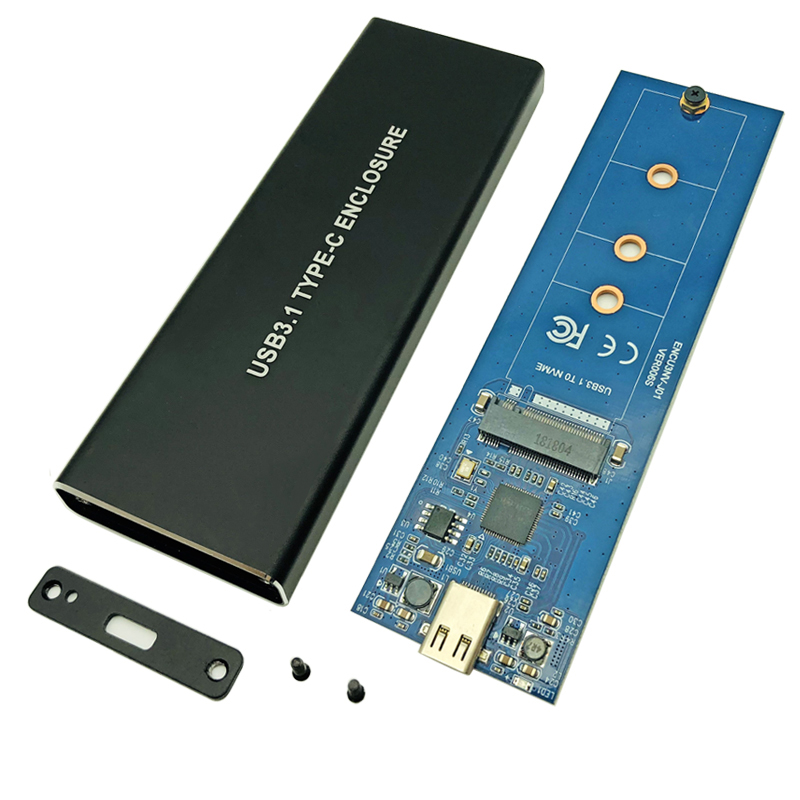 NVMe PCIE USB 3.1 HDD Enclosure M.2 To USB SSD Hard Disk Drive Case Type C 3.1 M KEY Connector For 2230 2242 2260 2280 Enclosure