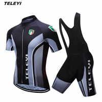 2017 czarny rowerów jazda na rowerze jersey spodenki na szelkach zestawy mężczyźni rower odzież garnitur Maillot Ropa Ciclismo MTB rower górny dół letnie koszule