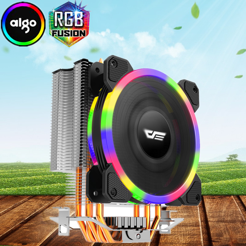 Aigo L5 CPU kühler Kühlung TDP 280 watt 5 heatpipes 4 p PWM LED RGB 120mm lüfter Kühler kühlkörper LGA 2011/115X/775/1366/AM2 +/AM3 +/AM4