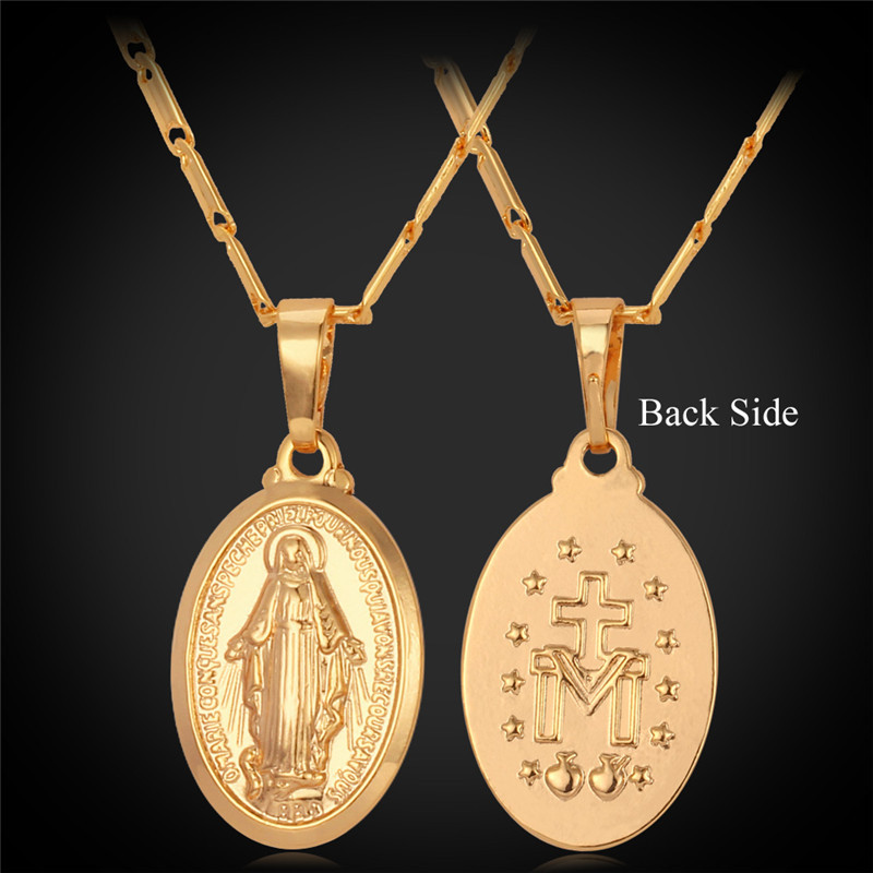 Collare Virgin Mary Pendant Gold/Rose Gold/Silver Color Wholesale Catholic Necklace Women Religious Christian Men Jewelry P276