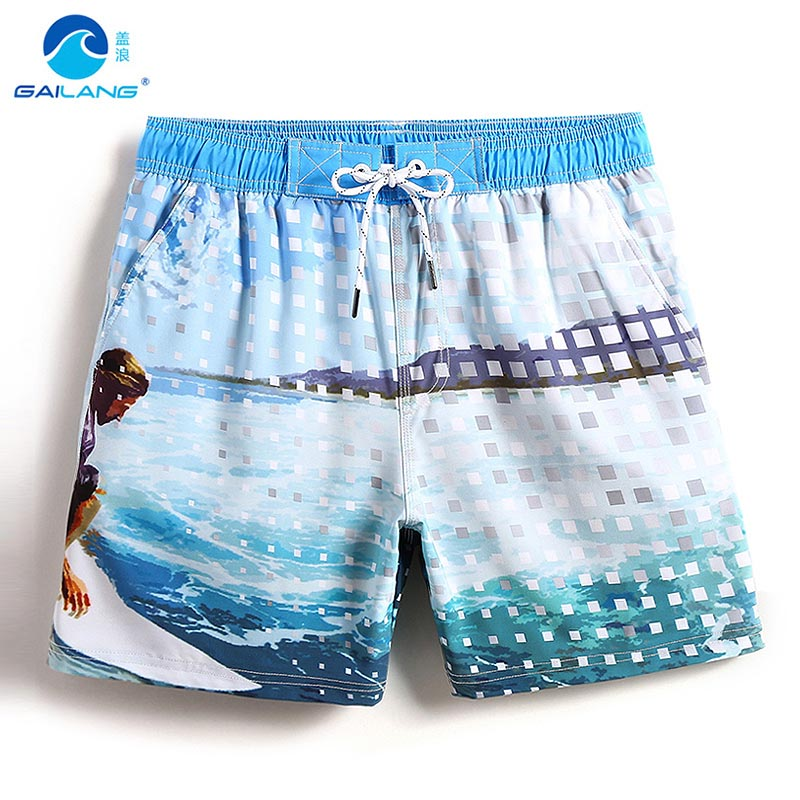 Board     shorts   Men's bathing suit beach   shorts   sexy swimsuit hawaiian bermudas surfing joggers swimwear briefs plavky mesh