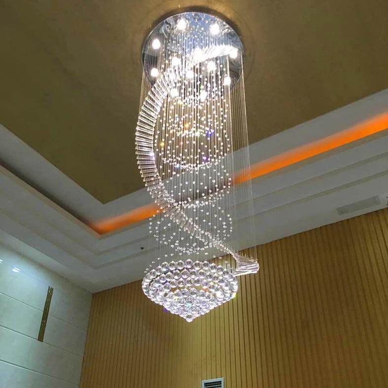 Moderní lustrové svítidlo LED křišťálové lustry Domů Vnitřní osvětlení Hotel Kavárny Foyer Restaurace Crystal Drop Light