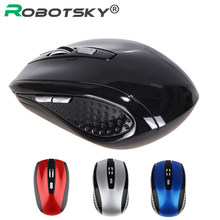 2.4GHz Wireless Mouse 6 Buttons 1200 DPI Optical Gaming Mouse Mice for PC Laptop Notebook Desktop(China)