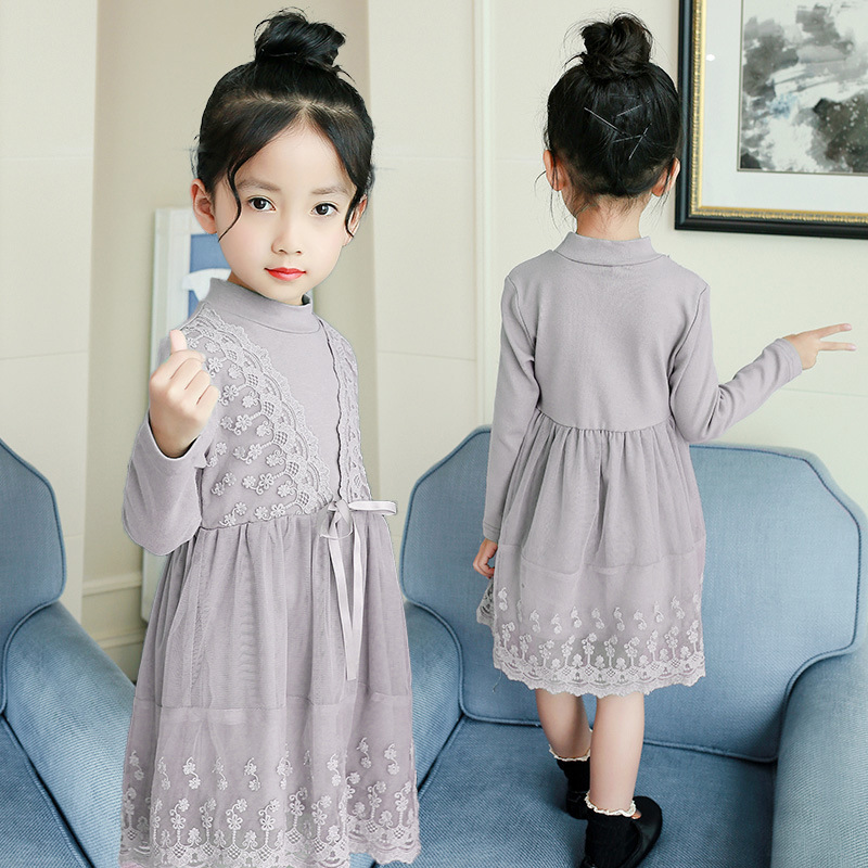 2018 Spring New Fashion Baby Girls Lace Dress Toddler Girls Princess Dress Teenage Girls Dress Kids Dresses For Girls Robe Fille princess girls dress 2017 new fashion spring