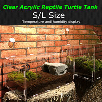 Acrylic Reptile Tank Insect Spiders Tortoise Lizard Breeding Box Vivarium Lid Reptile Pet Product Terrarium S/L Size Transparent