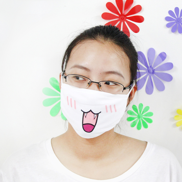 1Pc Kawaii Anti Dust mask Kpop Cotton Mouth Mask Cute Anime Cartoon Mouth Muffle Face Mask Emoticon Masque Kpop Masks Supply 4