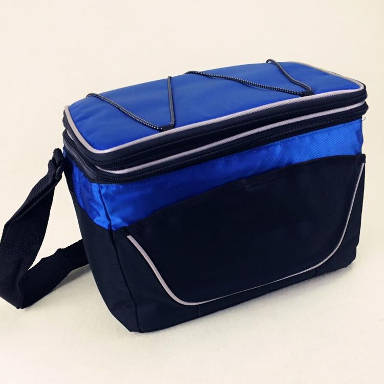 Doppelschichten Hohen Qualität Marke Große Thermische Picknick Kühltasche Isoliert Eis Kühlen Thermo Lunchbox Lagerung Von Lebensmitteln Umhängetasche 9l Schrecklicher Wert