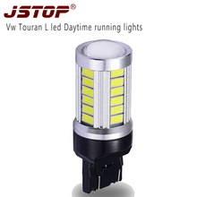 JSTOP Vw Touran L led Daytime running lamp 7443 bright day bulbs 12V 6000K canbus light W21/5W 6000k high quality Daytime lights