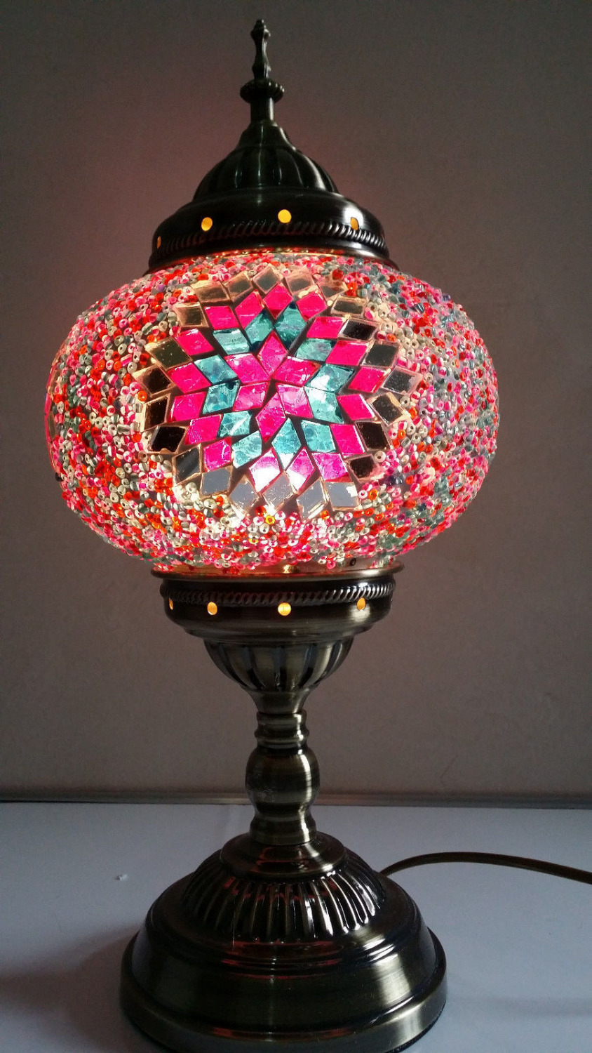 Turkish moroccan handmade mosaic red stained glass table lamp hand turkish moroccan handmade mosaic red stained glass table lamp hand craft desk lamp new in table lamps from lights lighting on aliexpress alibaba mozeypictures Image collections
