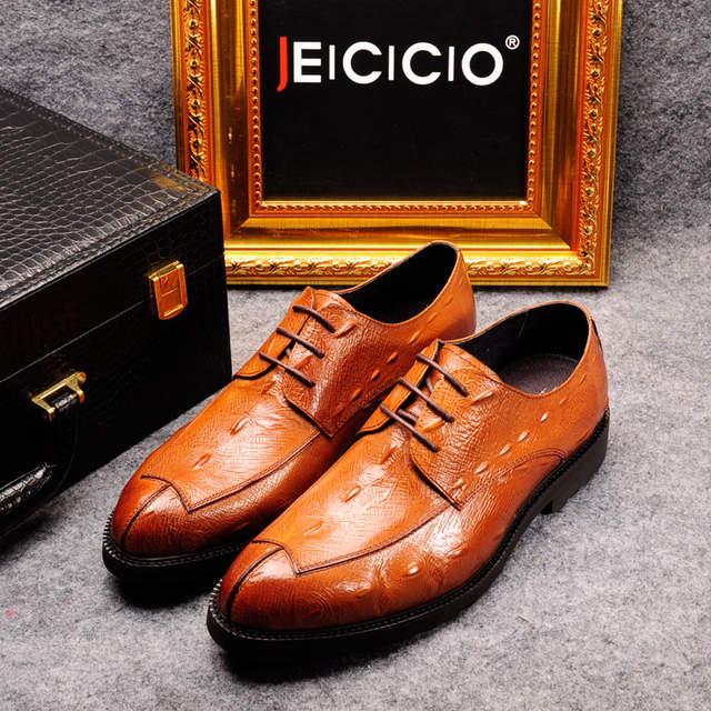 placeholder Z.suo New style 2018 Fashion Italian designer formal mens dress  shoes genuine leather black 8c7e2e43a503