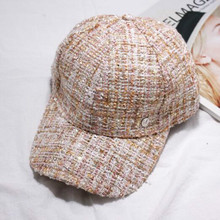 Fashion Ladies Fall / Winter M Standard Casual Cap Thick Tweed Curved Along the Hat Street to Shoot Hats Wholesale Sport