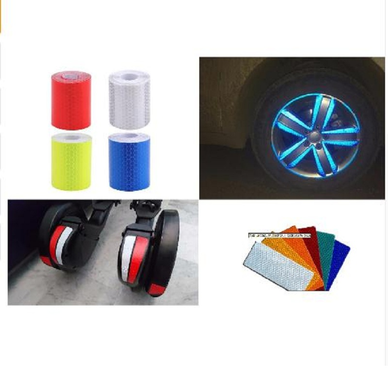 5cmx3m Safety Mark Reflective Tape Stickers Car Styling Self Adhesive Warning Tape Automobiles Motorcycle Reflective Film 4color