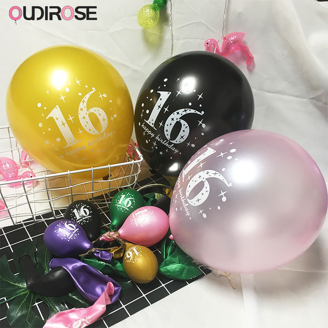 100pcs 12inch 28g Latex Party Balloon Decoration Happy Birthday Wedding Round Balloons Boy 16 Years Old Rite Supplies
