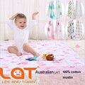 """Top Qualidade LAT Bebê blanket & Musselina Swaddle 100% Algodão Uma Camada de Dois 47 """"x 47"""" Pré-lavado Toalha Multifuncional Cobertor Infantil"""