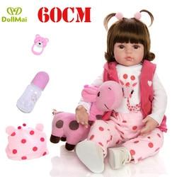 Renascer 58 centímetros renascer baby dolls silicone vinil boneca da menina da criança da princesa bebês l. o. l boneca surpresas presente para criança