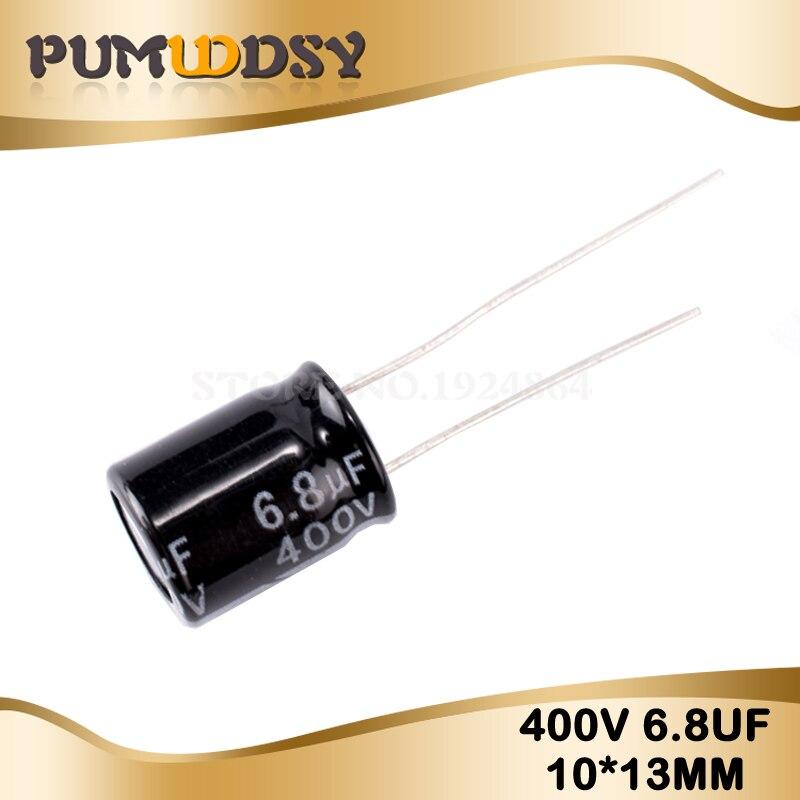10PCS Higt Quality 400V6.8UF 10*13 6.8UF 400V 10*13MM Electrolytic Capacitor