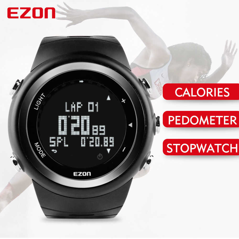 Free Shipping EZON T023 Running Sport Watch Pedometer Calorie Counter Monitor Digital Watch for Men