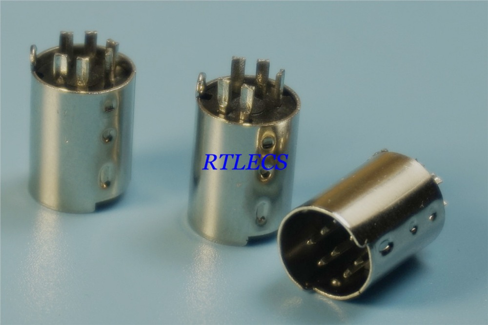 1000pcs Din Plug Male Din Connector 3 4 5 6 7 8 9 10 Pin Wire