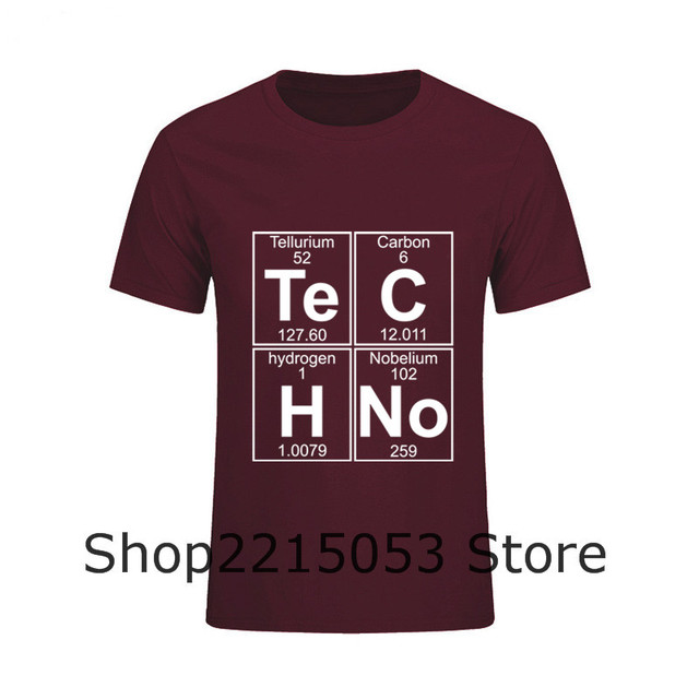 2019 Funny Graphic T Shirts Mens Te-C-H-No techno music Short Sleeved T-Shirt O Neck MaleHip Hop Top Tees tshirt moana nk patins